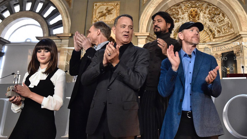 Cast inferno Ron Howard Tom Hanks Felicity Jones