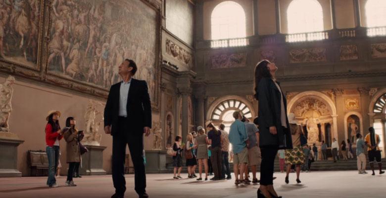 Inferno scena firenze con Tom Hanks