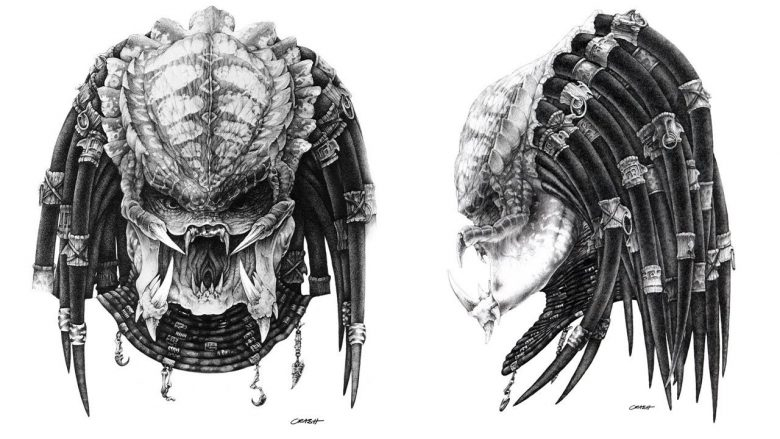 Predator testa bozzetto