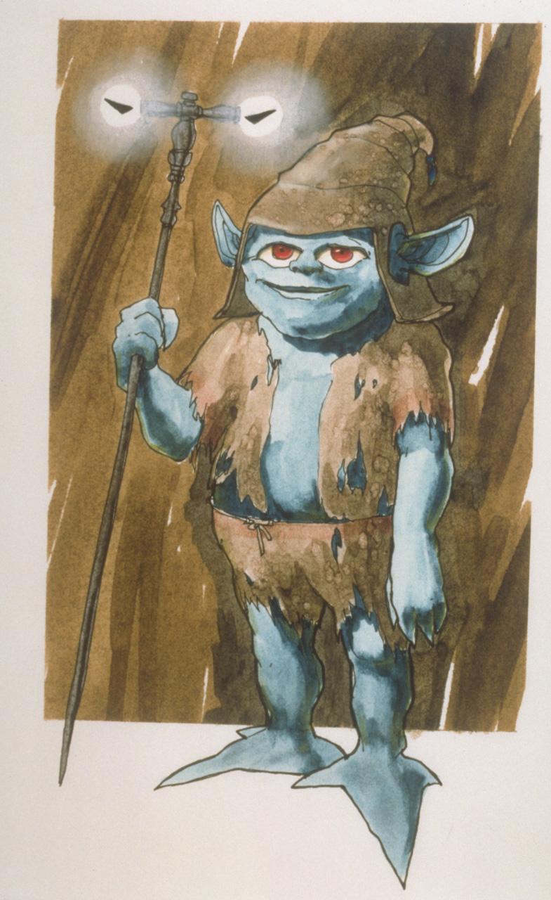 Bozzetto di Yoda Monster Movie