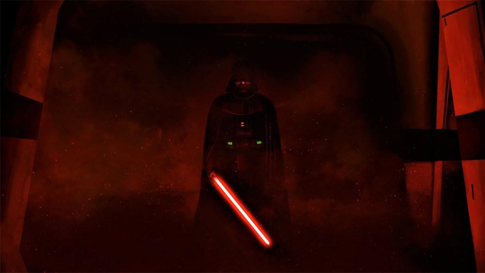 Darth Vader nella nave ribelle