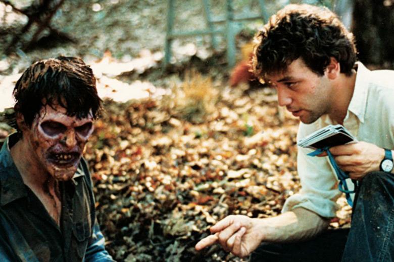 Sam Raimi e Bruce Campbell in Evil Dead