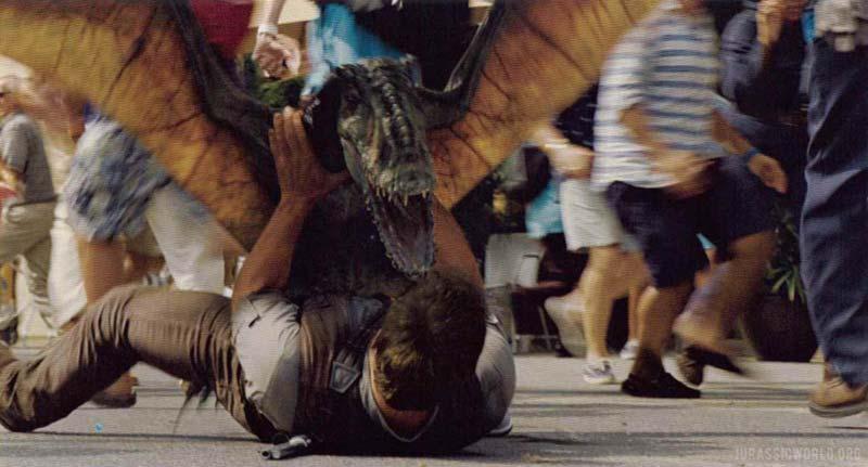Dimorfodonte scena dell'attacco Jurassic World