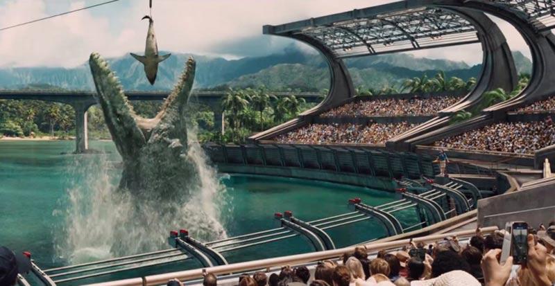 Mosasauro pranzo Jurassic World