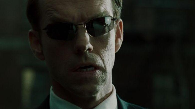 Matrix primo piano dell'Agente Smith