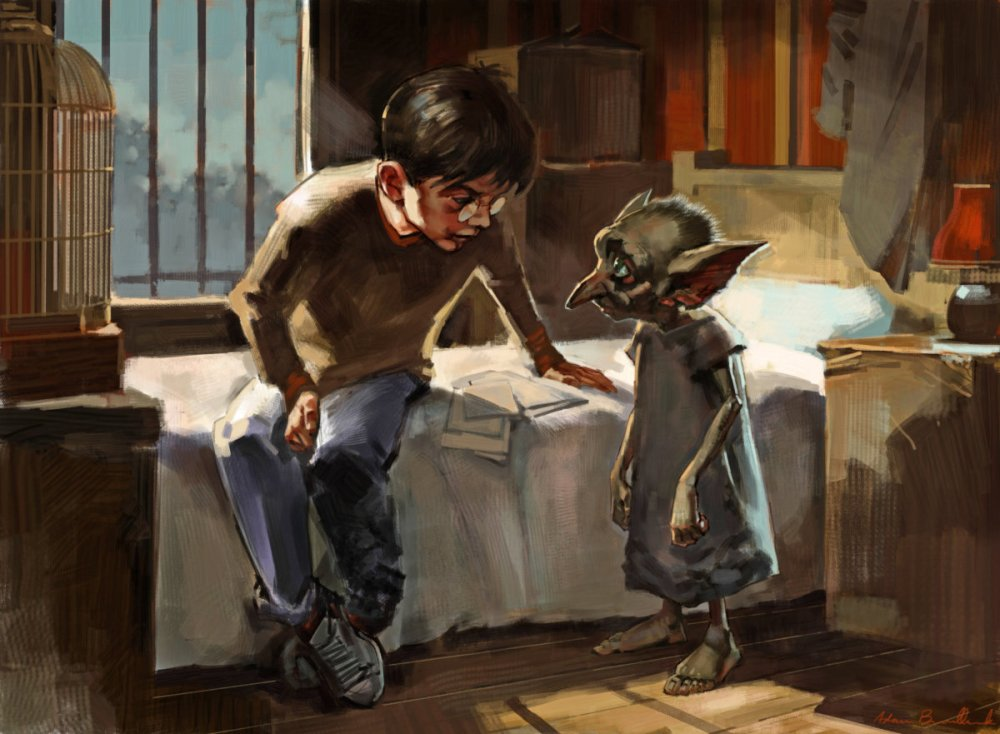 Dobby_WB_F2_DobbyAndHarryInBedroom_Illust_080615_Land