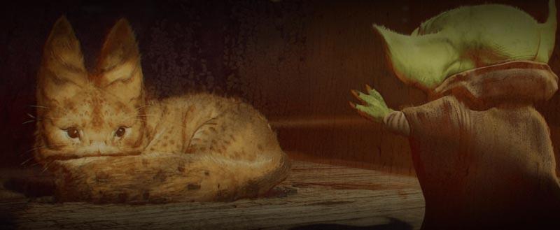 Lothcat mandalorian grogu