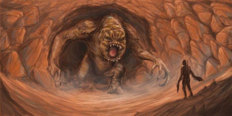 Rancor in una caverna
