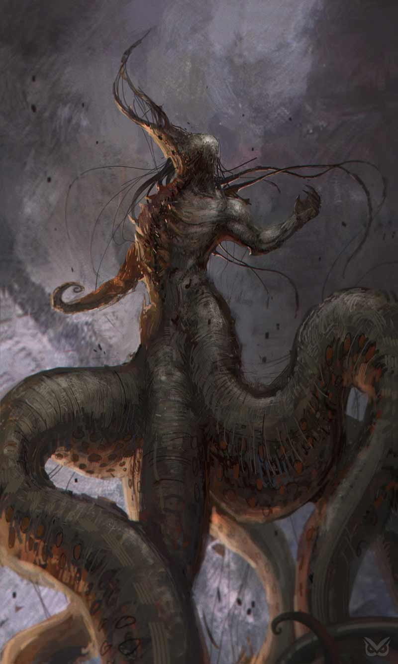 Bloodborne Artwork di Nyarlathotep