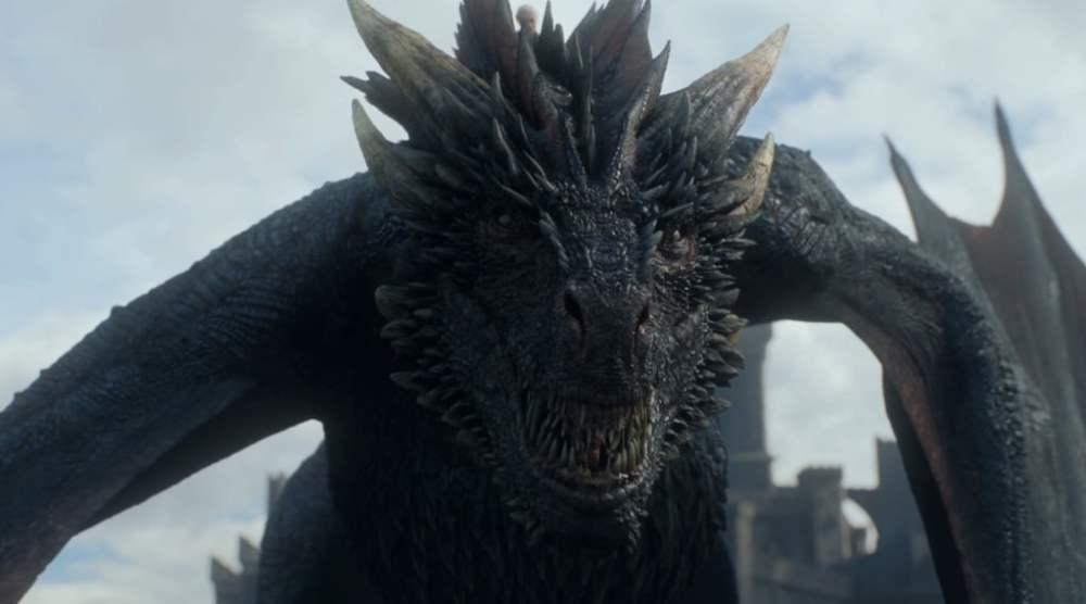 Drogon drago Game of Thrones serie