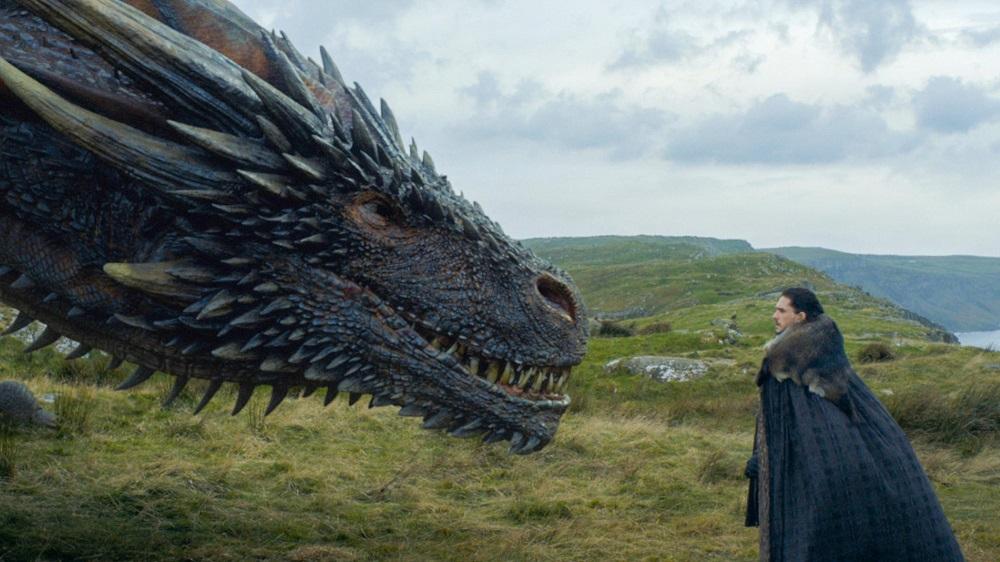 Drogon e Jon Snow serie GoT