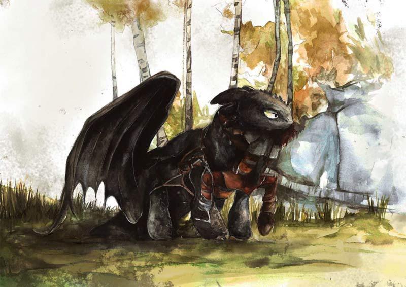 Dragon Trainer sdentato fan art