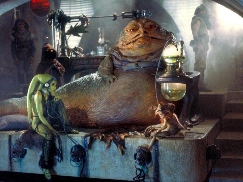 Jabba the Hutt nel palazzo