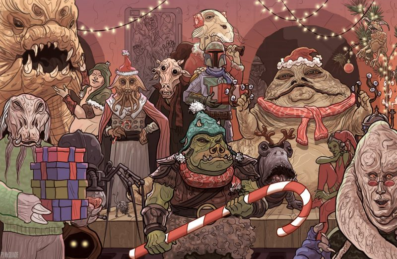 Jabba The Hutt Christmas poster