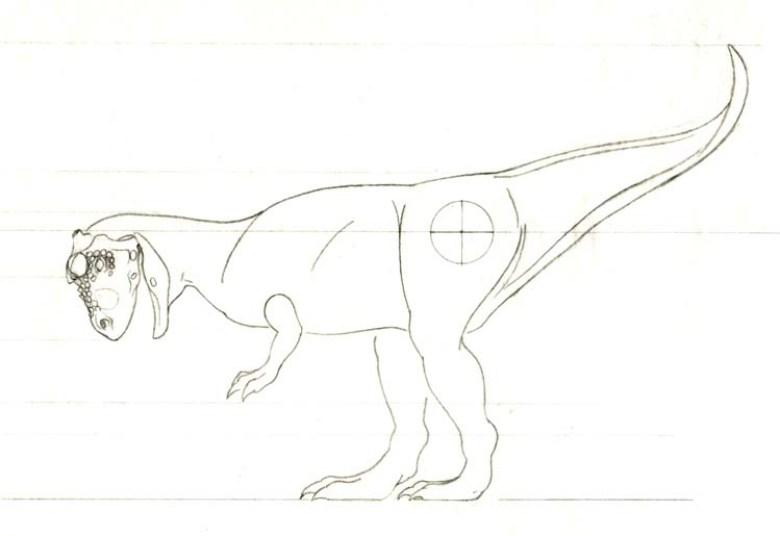 Bozzetto dinosauro Carnotauro