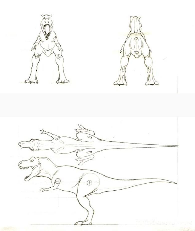 Jurassic Park Bozzetto del T-Rex