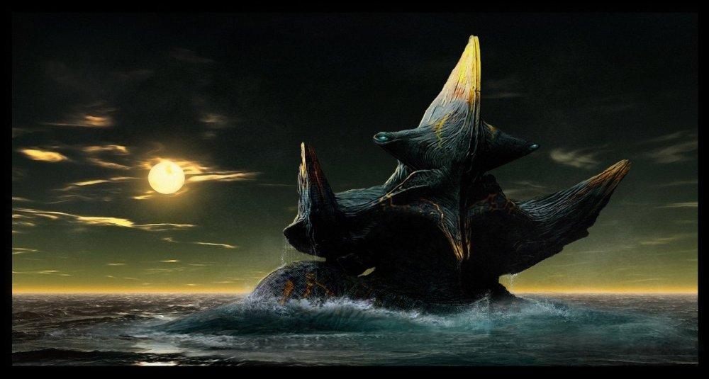 Concept art di Scunner in acqua
