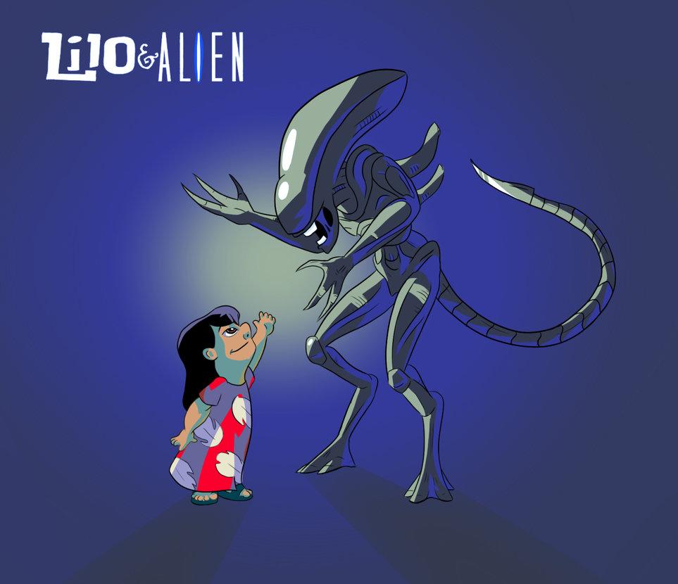 Lilo & Alien fan art