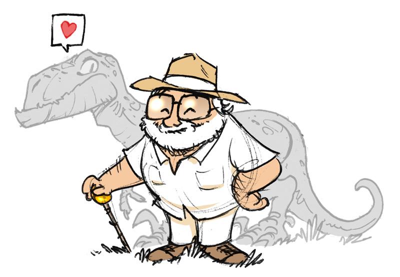 john hammond caricatura
