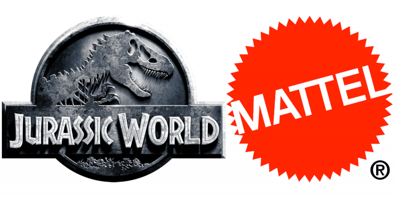 Loghi di Mattel e Jurassic World