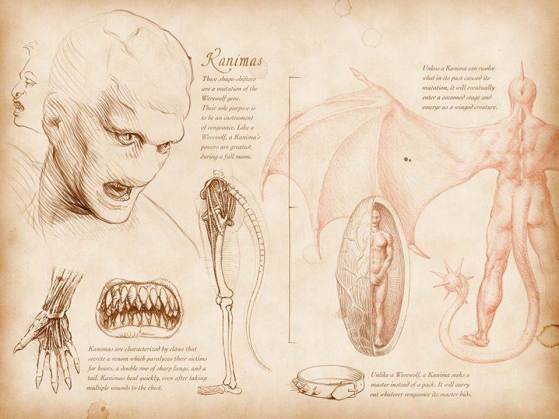 Bestiario Argent anatomia del Kanima