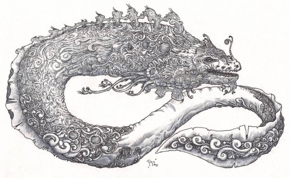 Re di Biss disegno serpente