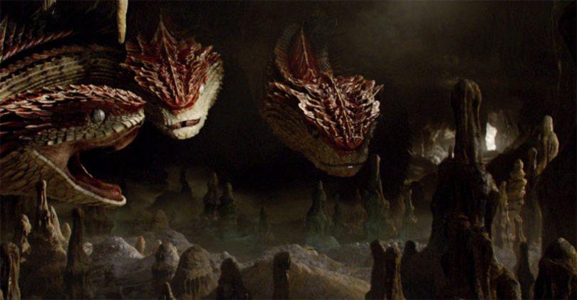 Animali Fantastici scena tagliata del Runespoor
