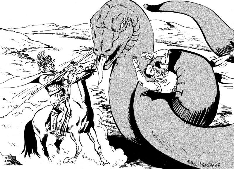 Serpente regolo disegno Monster Movie