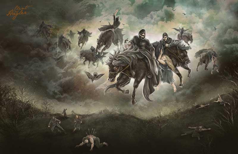 Caccia Selvaggia disegno dei ghost riders