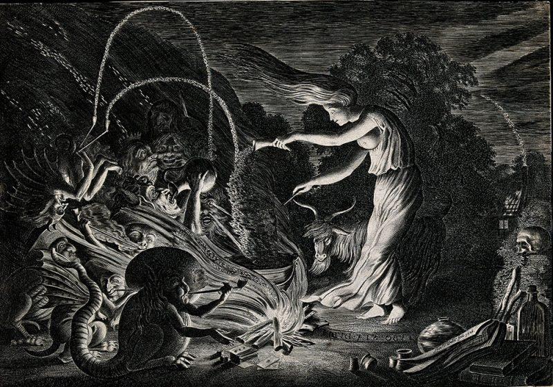 Janara strega raffigurazione