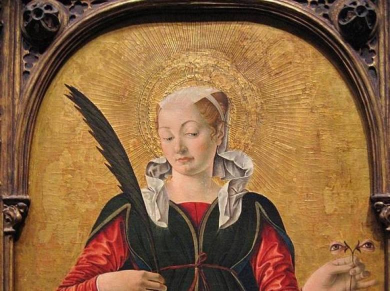 Santa Lucia dipinto con occhi
