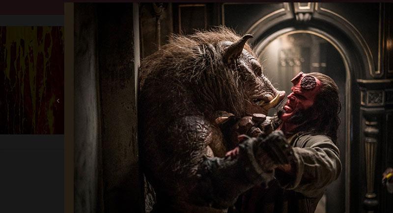Hellboy scena maiale