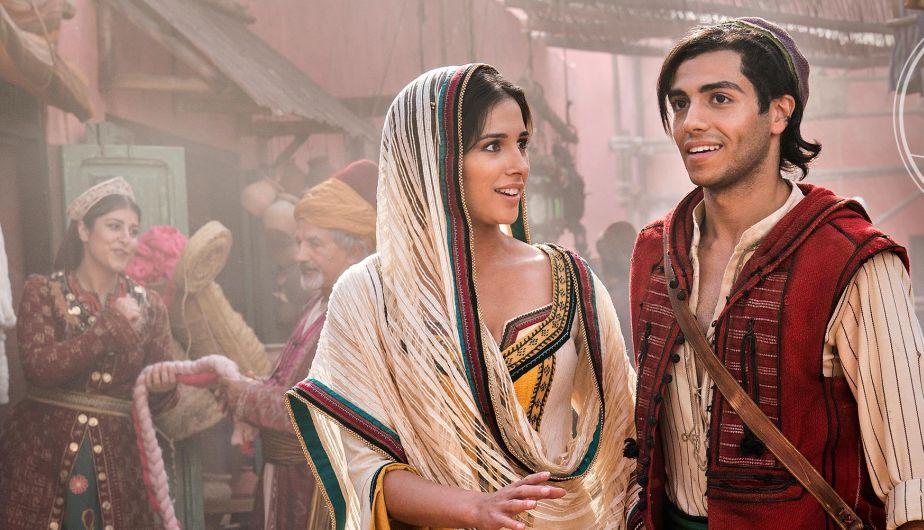 Jasmine e Aladdin nel film