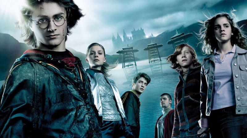 Harry Potter e il Calice di fuoco poster con i personaggi