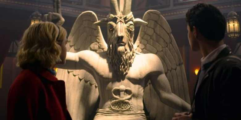 Sabrina statua Lucifero serie