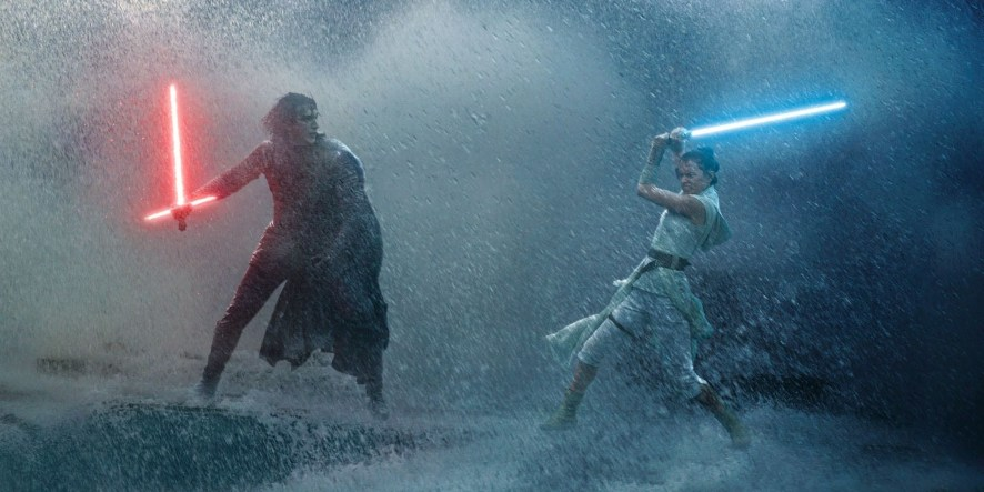 Kylo Ren vs Rey Rise of Skywalker