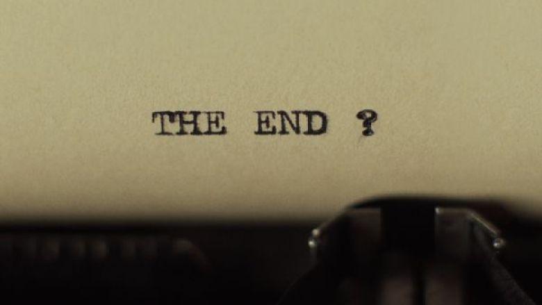 The end macchina da scrivere