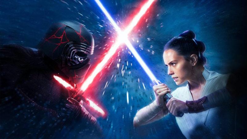 Rey vs Kylo poster