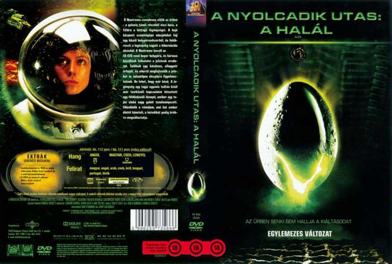 Copertina home video ungherese di Alien