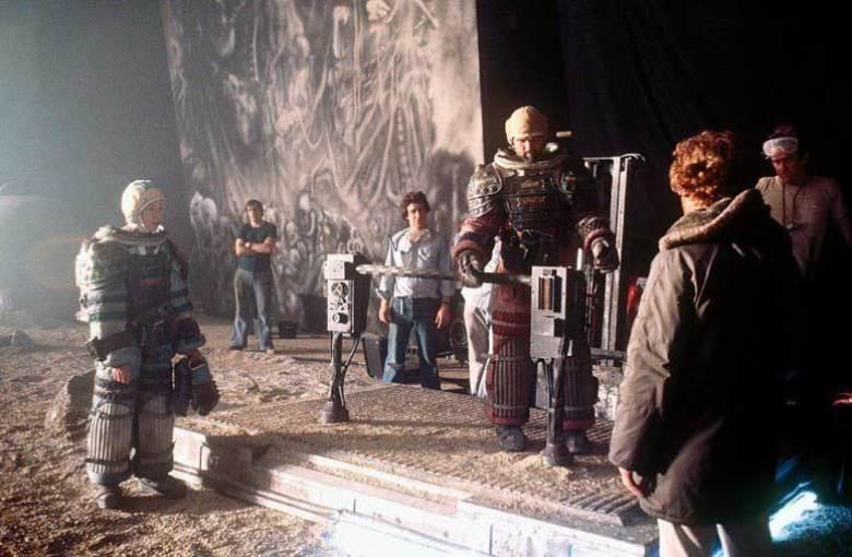 Costumi degli attori sul set di Alien