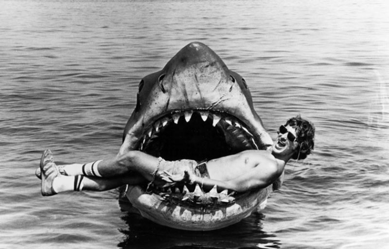 Jaws Lo squalo foto in bianco e nero