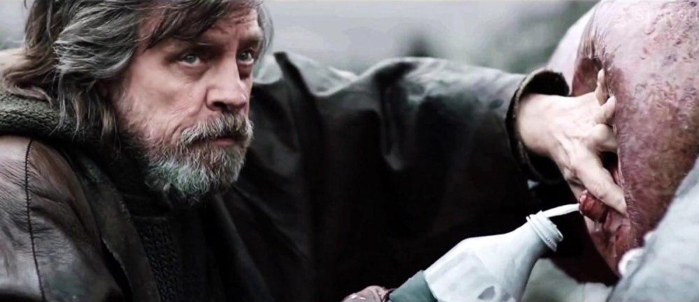 Luke Skywalker in The Last Jedi con tetta