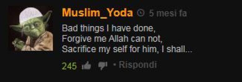 Yoda profilo su Pornhub