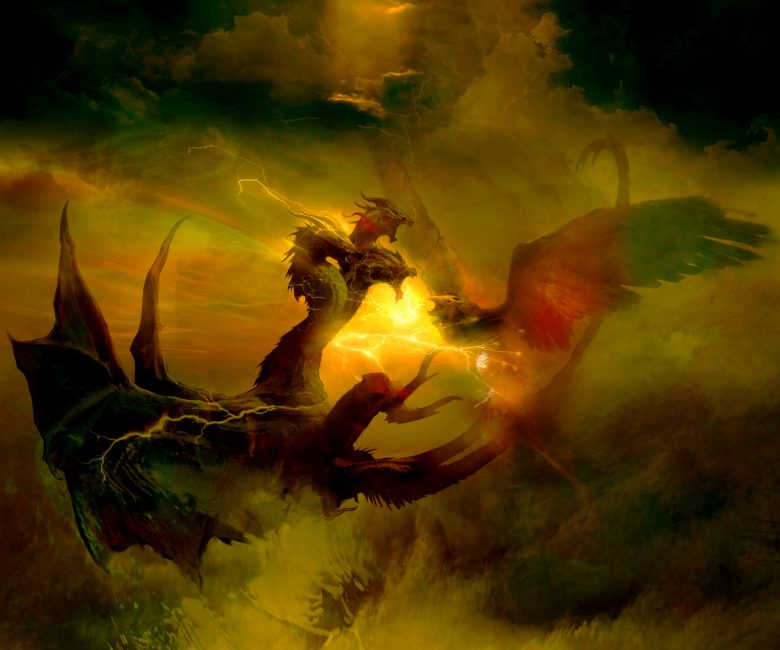 Rodan vs Ghidorah concept art painting watchalong