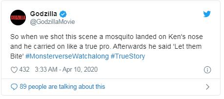 bite tweet Godzilla