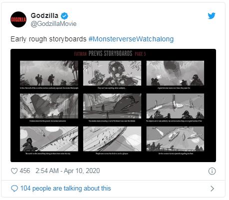 concept godzilla tweet storyboard