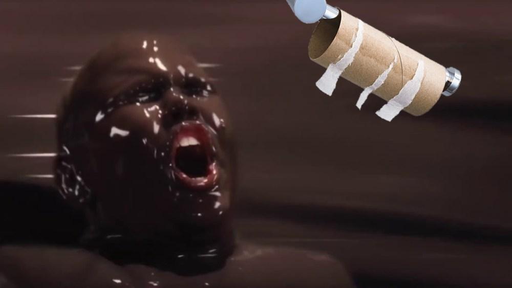 fiume cioccolato cacca