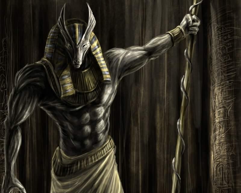 Anubi dio egizio fan art