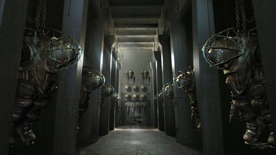 BioShock film disegno dei Big Daddy