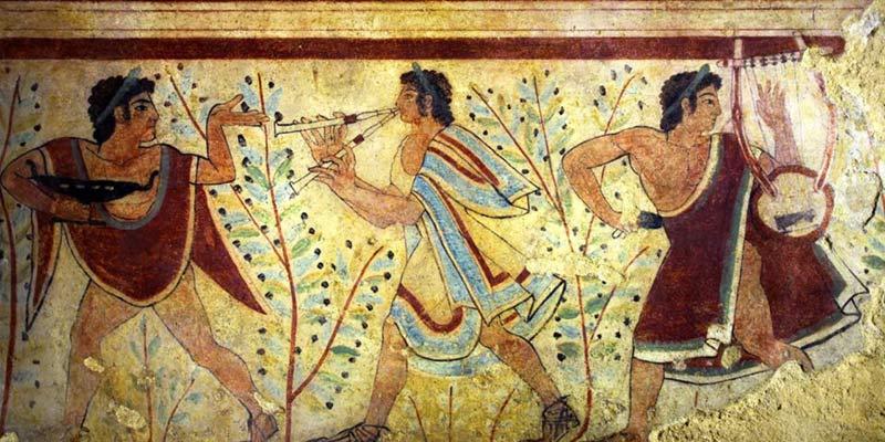 Etruschi dipinto muro